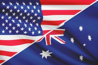 American flag mixed with Austrlian flag