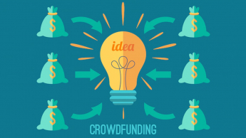 Image showing crowdfunding money for idea